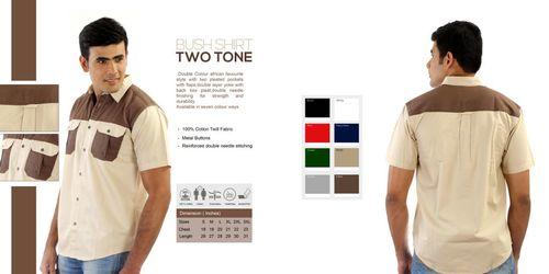 Two Tones Mens Bush Shirts