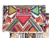 Embroidery and Beaded Clutch
