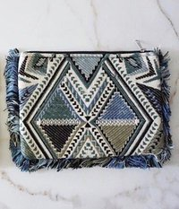 Bead Embroidered Clutch Bag