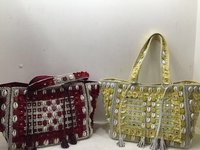 Embroidery Mirror Work Handbags