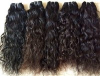 Temple wavy human hair,100% Indian Temple donated Wavy Hair