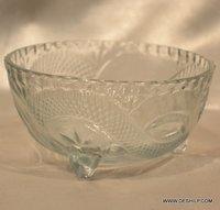 Serving Dinnerware Bowl Metal Fitting Round Storage Bowl Set Glass Bowl