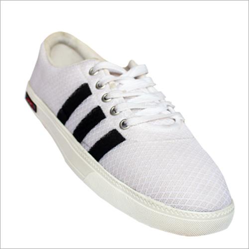 Mens White Canvas Shoe