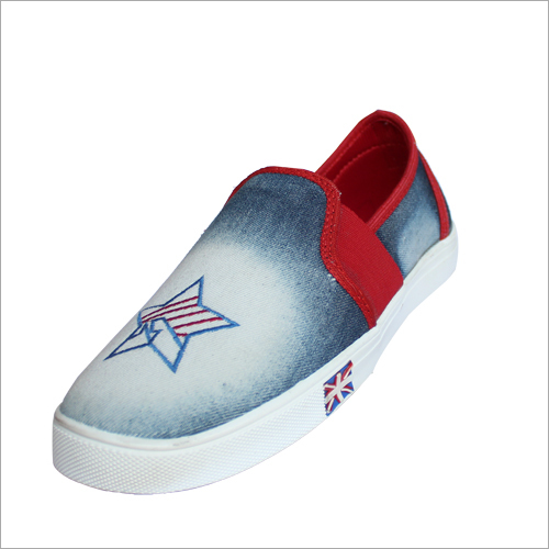 Mens Printed Canvas Shoe