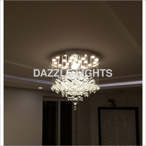Crystal Ceiling Mounted Chandelier
