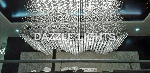 Crystal Flush Ceiling Mounted Chandelier