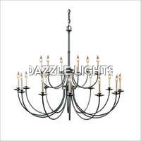 Iron Oblong Chandelier