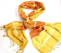 Yellow Strips Girls Scarf