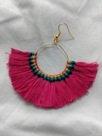 Fancy Silk Thread Earrings
