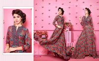 DESIGNER RAYON PRINTED GOWNS