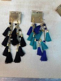 Earrings Long Silk Thread Tassel