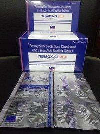 Amoxycillin 500mg. + Clavulanic Acid 125mg. + Lactic Acid Bacillius