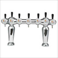 7 Faucet Robot Type Beer Draft Tower