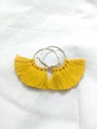 Yellow silk thread tassels