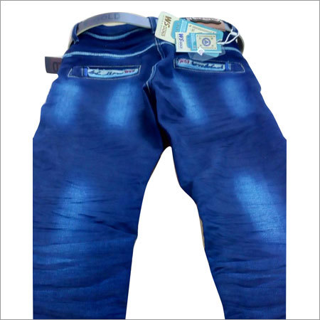 Men's China Wash Wrinkle Jeans