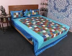 Silk Patchwork Bed Cover