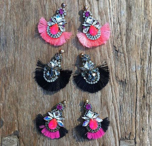 Silk Thread Pearl Earring