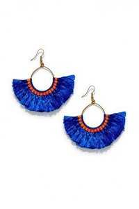 Ladies Designer Silk Thread Earrings