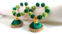 Fancy Beaded Silk Thread Jhumka