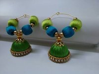 Silk Thread fancy Jhumka Earrings