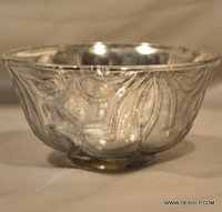 GLASS SILVER BOWL,\ FOOTED BOWL,CLASSIC BOWL,HEART SHAPE BOWL, FROSTED GLASS