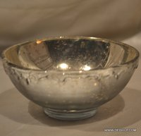 GLASS SILVER BOWL, BOWL,CLASSIC BOWL,HEART SHAPE BOWL, FROSTED GLASS BOWL