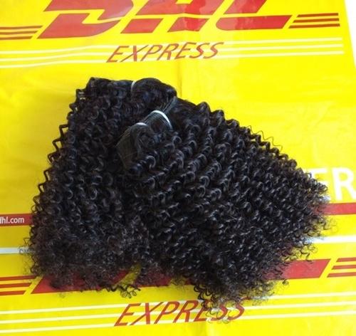 Steam Curly Hair , Machine Weft Hair