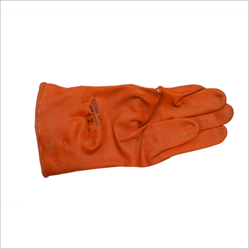 Orange Colored Safety Gloves