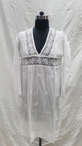 Ladies Cotton Embroidery Handmade Kurti