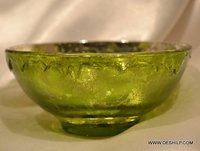 GLASS SILVER GREEN BOWL, GLASS BOWL,CLASSIC BOWL,HEART SHAPE BOWL