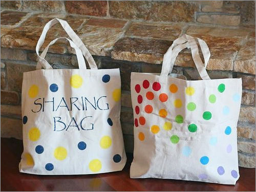 Polka Multiple Dot Totes