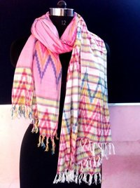 Zig Zag Yarn Dyed Stoles sumppliers