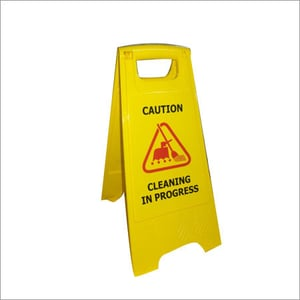 Caution Board - Cleaning in Progress