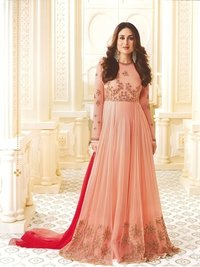 Kareena Kapoor Peach Art Silk Anarkali Suit