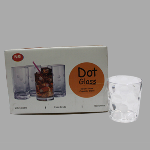 Unbreakable Dot Glass Tumbler