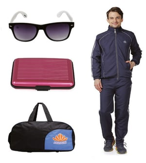 Mens Track suit & Duffle bag Combo (Nevy & White )