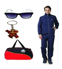 Mens Track suit & Duffle Bag Combo (Nevy&White)