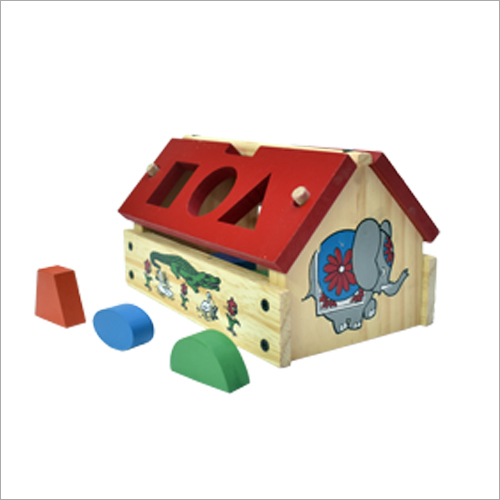 Wooden Hut Shape Box