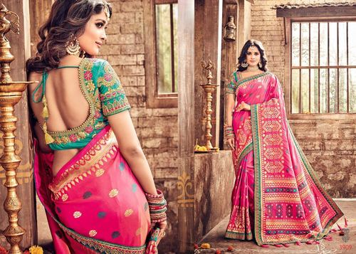 Indian Designer Heavy Silk Saree