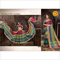 Cotton Multicolor Saree