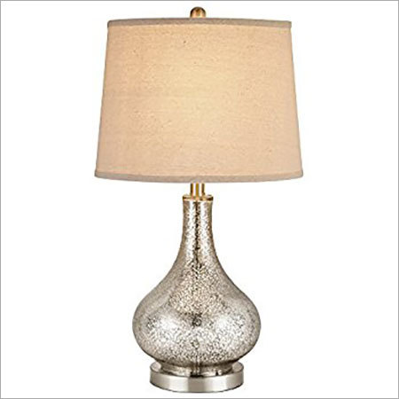 Mercury glass gourd table lamp