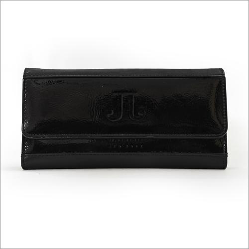 Ladies Leather Black Wallet