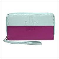 Leather Girls Zipper Wallet