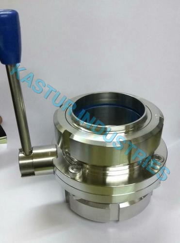 SMS TYPE STAINLESS STEEL BUTTERFLY VALVE