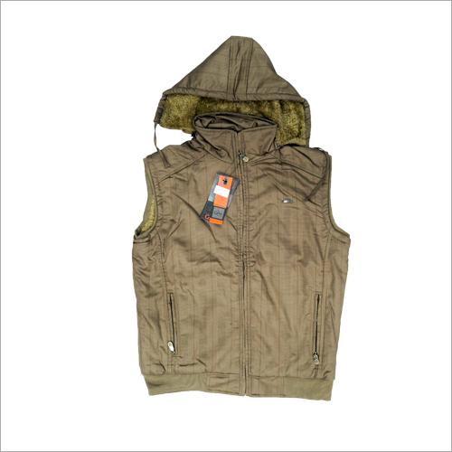 Mens Half Sleeve Hooded Jacket
