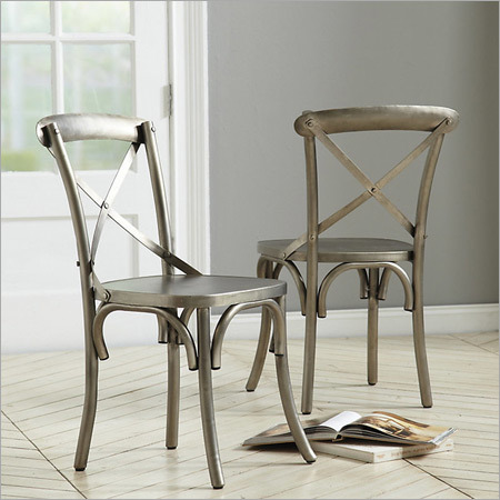 Metal Crossed Dinning Chair