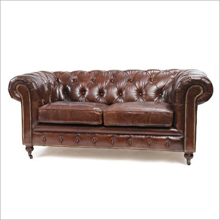 Leather Chestered Sofa