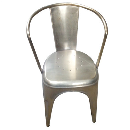 German Silver Plated Tolix Chair