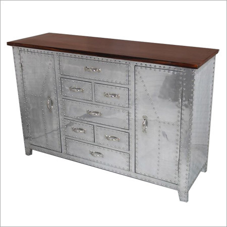 White Metal Sideboard