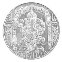 Silver Ganesh Coin